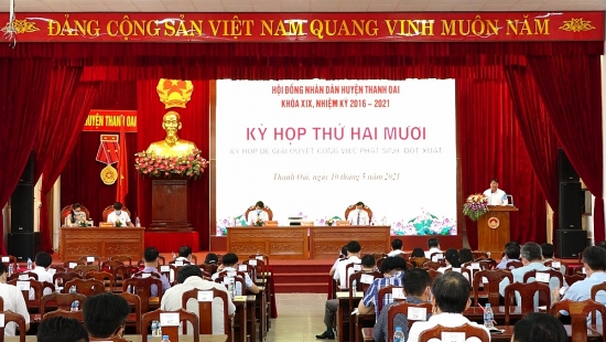 Hội đồng nhân dân huyện Thanh Oai họp đột xuất giải quyết công việc phát sinh