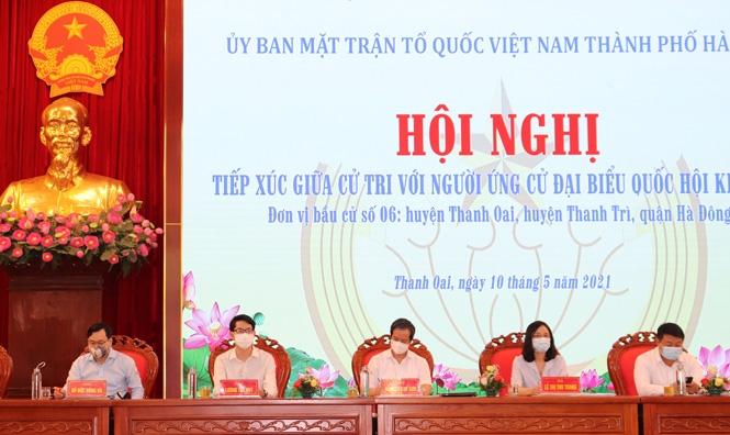 Ứng viên đại biểu Quốc hội vận động bầu cử tại huyện Thanh Oai