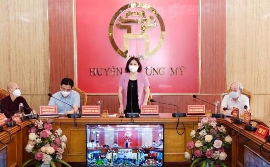 Ứng viên đại biểu Hội đồng nhân dân thành phố Hà Nội vận động bầu cử tại huyện Chương Mỹ