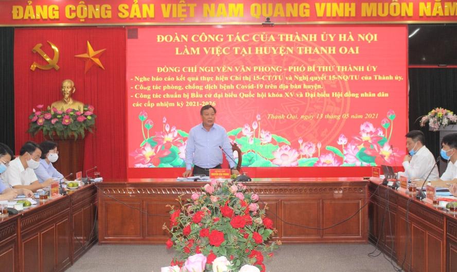 Phó Bí thư Thành ủy Hà Nội: Nâng mức độ cảnh báo phòng, chống Covid-19