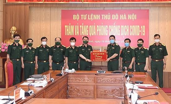 Bộ Tư lệnh Thủ đô Hà Nội tặng Bộ Tư lệnh Quân khu I vật tư y tế để phòng, chống Covid-19