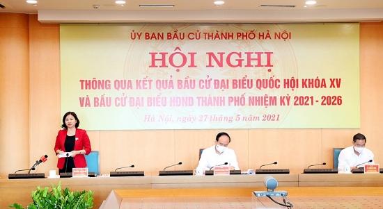 Công bố danh sách 95 đại biểu Hội đồng nhân dân thành phố Hà Nội khóa XVI