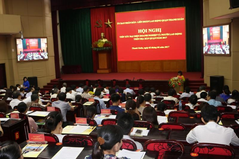 Quận Thanh Xuân luôn đồng hành cùng doanh nghiệp và người lao động