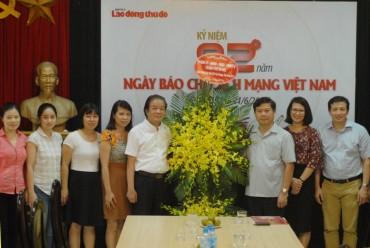 Lãnh đạo Thành ủy Hà Nội chúc mừng báo Lao động Thủ đô