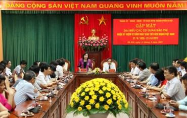 Lãnh đạo Thành phố Hà Nội gặp mặt các cơ quan báo chí