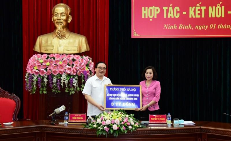 Hà Nội - Ninh Bình: Đẩy mạnh hợp tác trên nhiều lĩnh vực