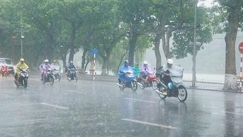 Hôm nay (14/6): Khu vực Hà Nội có mưa to và dông