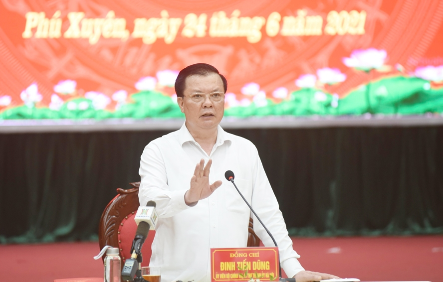 Bí thư Thành ủy Đinh Tiến Dũng: Khơi dậy khát vọng phát triển của huyện Phú Xuyên