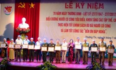 Huyện Thường Tín kỷ niệm 70 năm Ngày Thương binh liệt sỹ