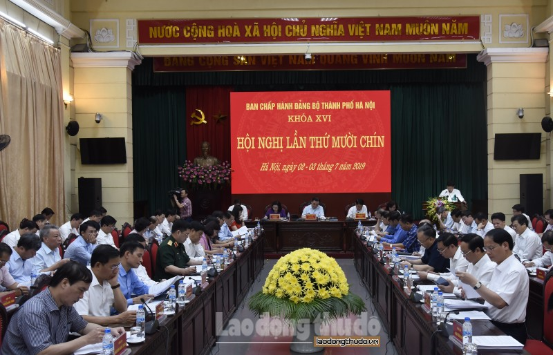 Khai mạc Hội nghị lần thứ mười chín Ban Chấp hành Đảng bộ thành phố Hà Nội