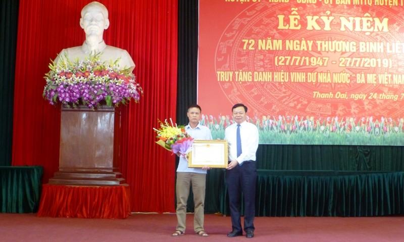 Huyện Thanh Oai: Nhiều hoạt động ý nghĩa nhân kỷ niệm 72 năm Ngày thương binh liệt sỹ