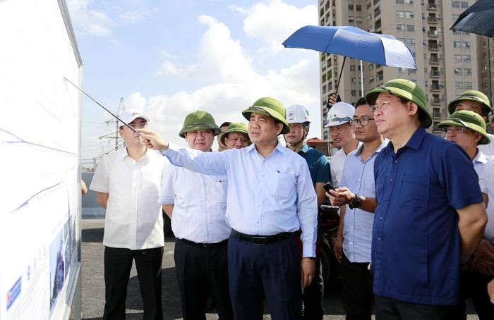 Bí thư Thành ủy Vương Đình Huệ kiểm tra tiến độ 5 dự án giao thông trọng điểm