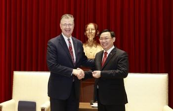 Bí thư Thành ủy Vương Đình Huệ tiếp Đại sứ Hoa Kỳ