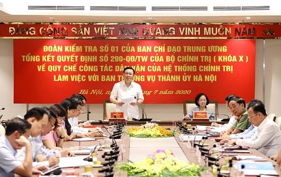 """Hà Nội sẽ kết hợp giữa """"diện"""" và """"điểm"""" trong công tác dân vận"""
