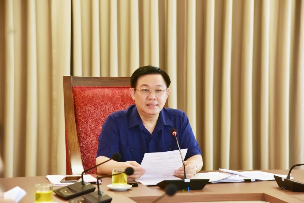 Bí thư Thành ủy Vương Đình Huệ chủ trì họp về công tác phòng chống tham nhũng