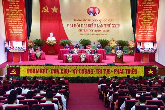 Đảng bộ huyện Quốc Oai khai mạc Đại hội lần thứ XXIII