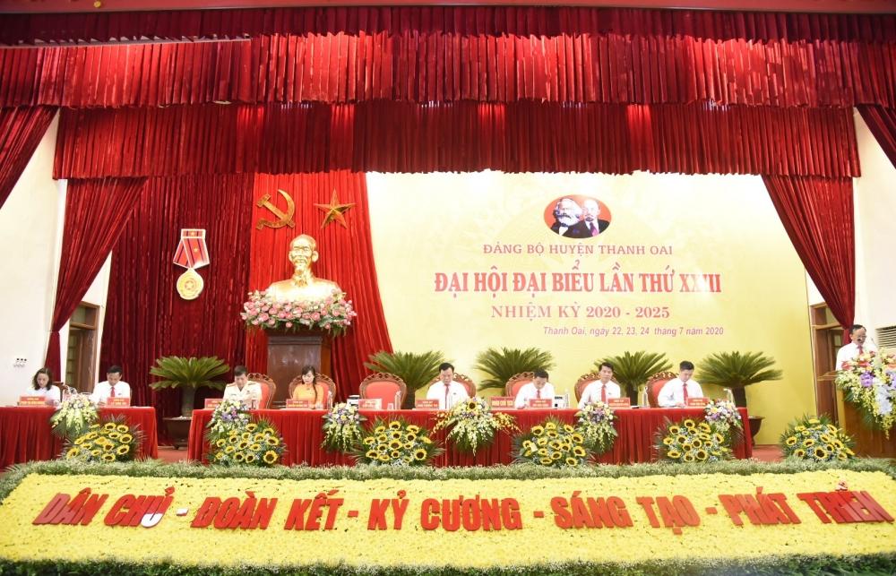 Đại hội Đảng bộ huyện Thanh Oai lần thứ XXIII họp phiên trù bị