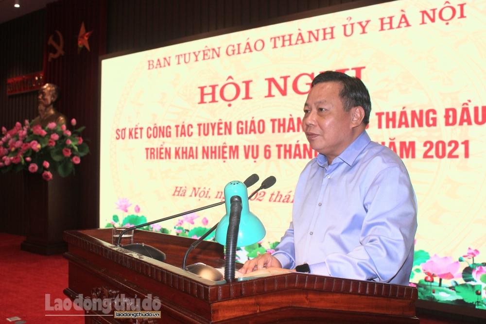 Phó Bí thư Thành ủy Hà Nội Nguyễn Văn Phong: Tạo đồng thuận để tiêm vắc xin phòng Covid-19 trên diện rộng