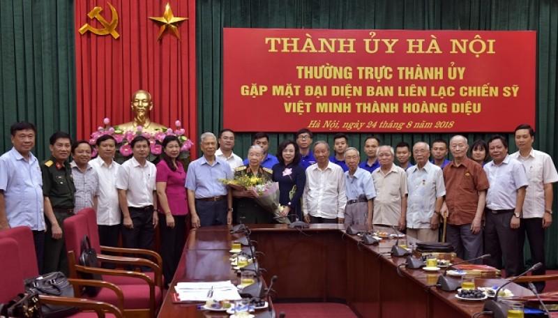 Thường trực Thành ủy gặp mặt đại diện Ban liên lạc chiến sĩ Việt Minh thành Hoàng Diệu