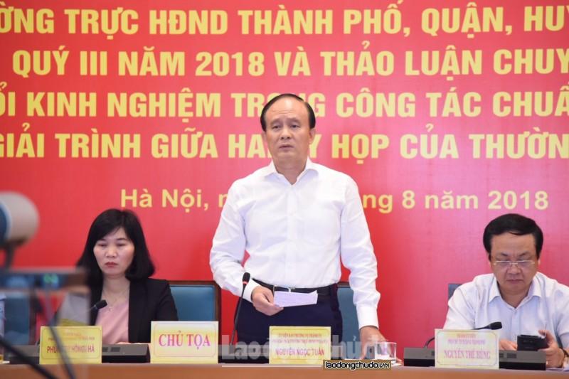 HĐND Thành phố tổ chức hội nghị giao ban trực tuyến quý III/2018