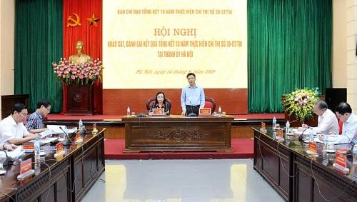Khảo sát việc thực hiện Chỉ thị 39 trên địa bàn Hà Nội
