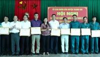 Huyện Thanh Oai sơ kết 10 năm xây dựng nền quốc phòng toàn dân