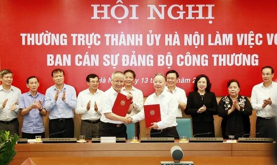Bí thư Thành ủy Vương Đình Huệ chủ trì làm việc với Ban cán sự Đảng Bộ Công thương