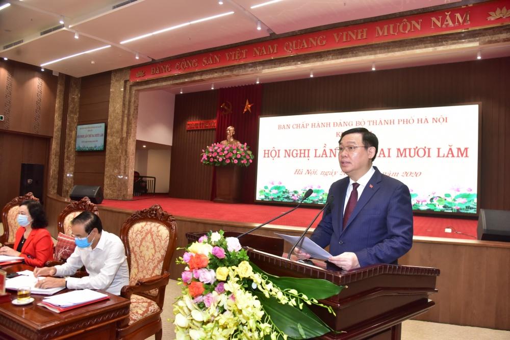Bí thư Thành ủy Vương Đình Huệ: Sớm hoàn thành mục tiêu đưa 5 huyện thành quận