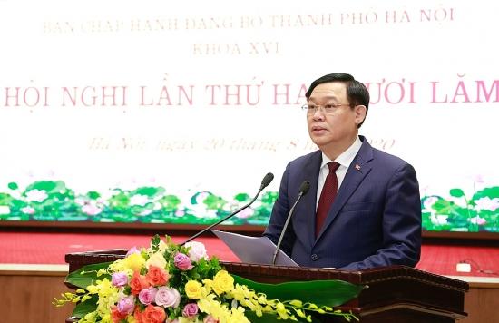 Phát biểu kết luận của đồng chí Vương Đình Huệ tại Hội nghị lần thứ 25 Ban Chấp hành Đảng bộ thành phố Hà Nội
