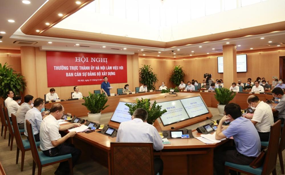 Bí thư Thành ủy Vương Đình Huệ chủ trì làm việc với Ban cán sự Đảng Bộ Xây dựng