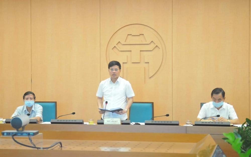 Hà Nội: Họp trực tuyến toàn thành phố về phòng, chống dịch Covid-19