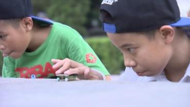Khám phá thú chơi của các bạn nhỏ say mê trượt ván