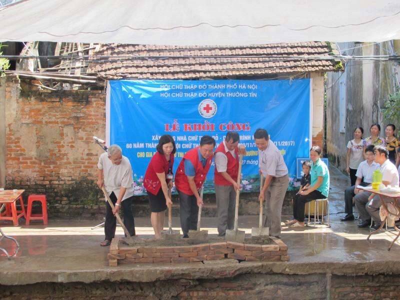 Huyện Thường Tín: Khởi công xây nhà chữ thập đỏ tại xã Minh Cường