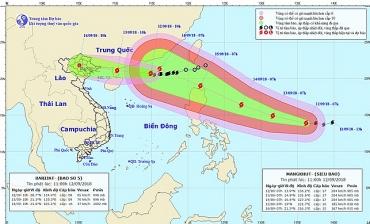 Thông tin mới nhất về Cơn bão số 5