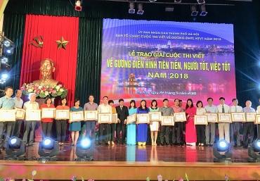Hà Nội trao giải 39 tác phẩm viết về người tốt, việc tốt năm 2018