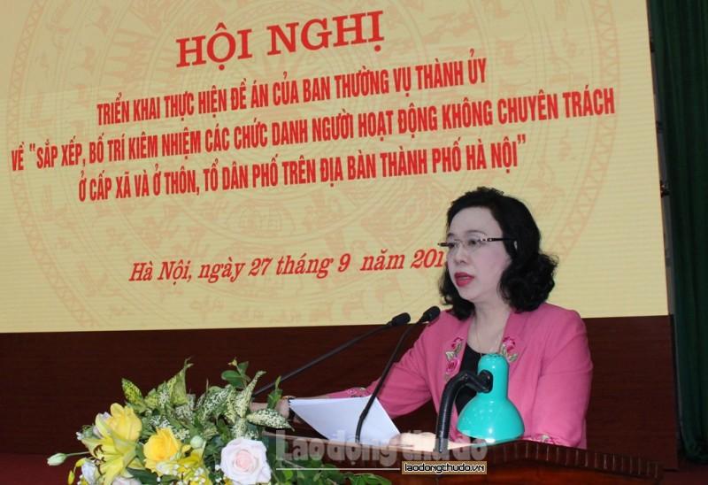 trien khai bai ban viec sap xep doi ngu can bo khong chuyen trach o co so