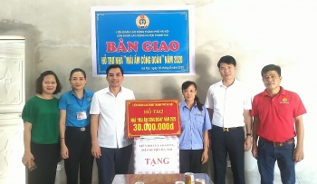 Huyện Thanh Oai bàn giao nhà Mái ấm Công đoàn