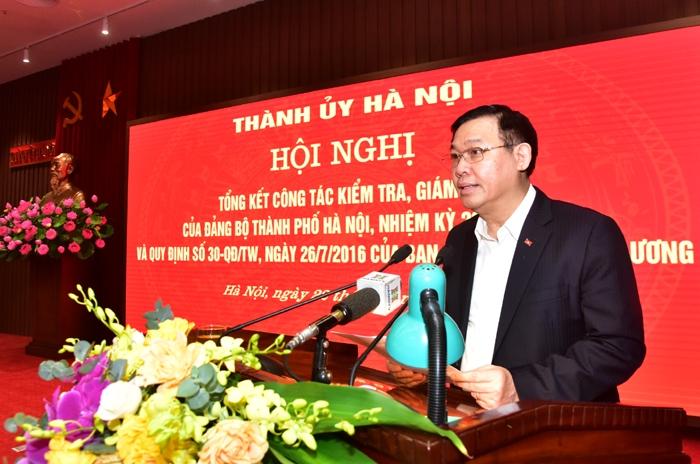 Bí thư Thành ủy Hà Nội Vương Đình Huệ: Giải quyết dứt điểm đơn thư có liên quan đến công tác nhân sự Đại hội
