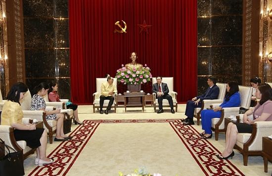 Bí thư Thành ủy Hà Nội Vương Đình Huệ tiếp Đại sứ Thái Lan