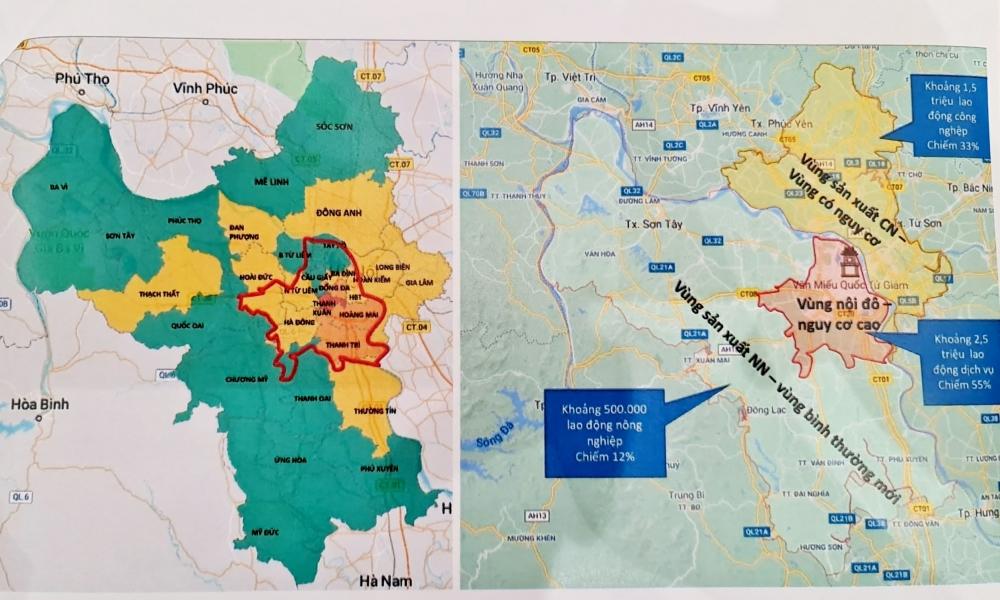 Chi tiết phân vùng phòng, chống dịch Covid-19 của Hà Nội sau ngày 6/9
