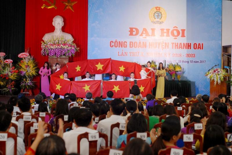 Khai mạc Đại hội Công đoàn huyện Thanh Oai lần thứ X