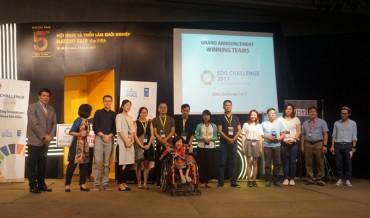 3 đội đạt giải thưởng cuộc thi 'Thử thách SDGs – SDG Challenge 2017'