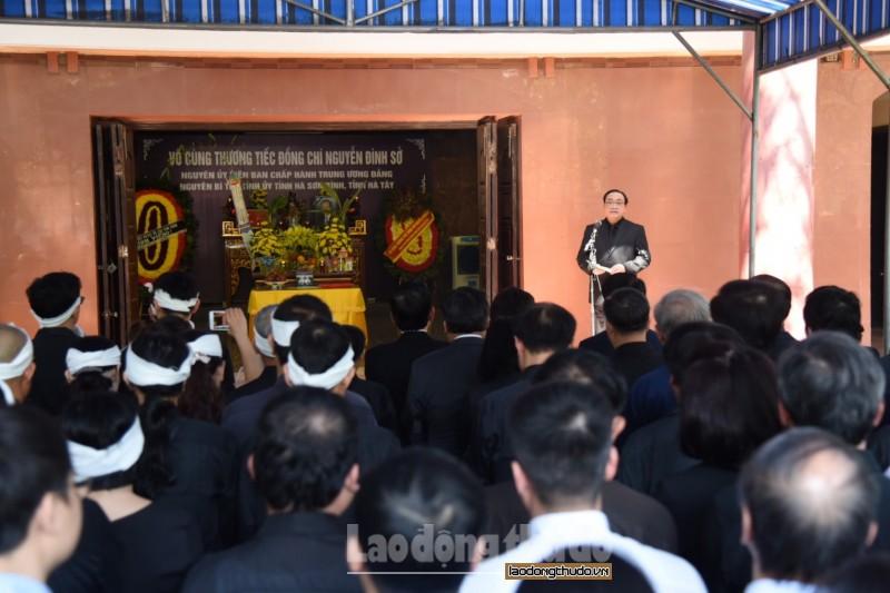 Cử hành trọng thể Lễ truy điệu đồng chí Nguyễn Đình Sở