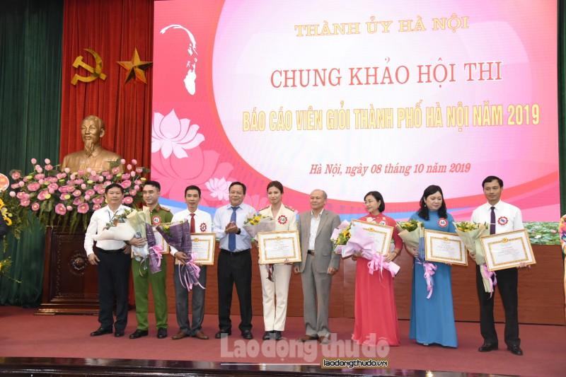 Hà Nội: Nữ chiến sĩ Công an giành giải Nhất hội thi báo cáo viên giỏi