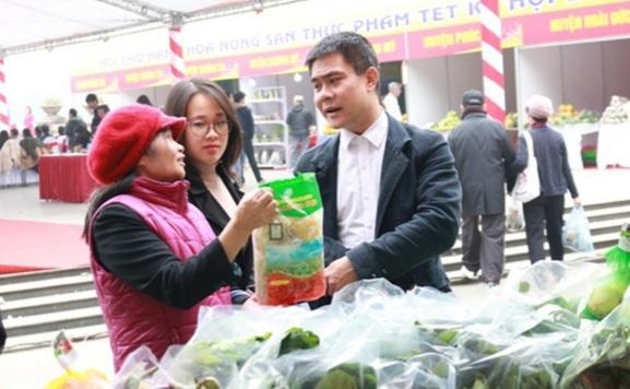 Hà Nội đã bố trí 28 điểm để các tỉnh tiêu thụ hàng Tết