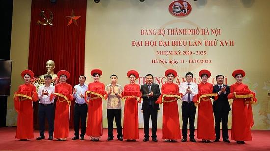 Chính thức khai trương Trung tâm báo chí Đại hội lần thứ XVII Đảng bộ thành phố Hà Nội