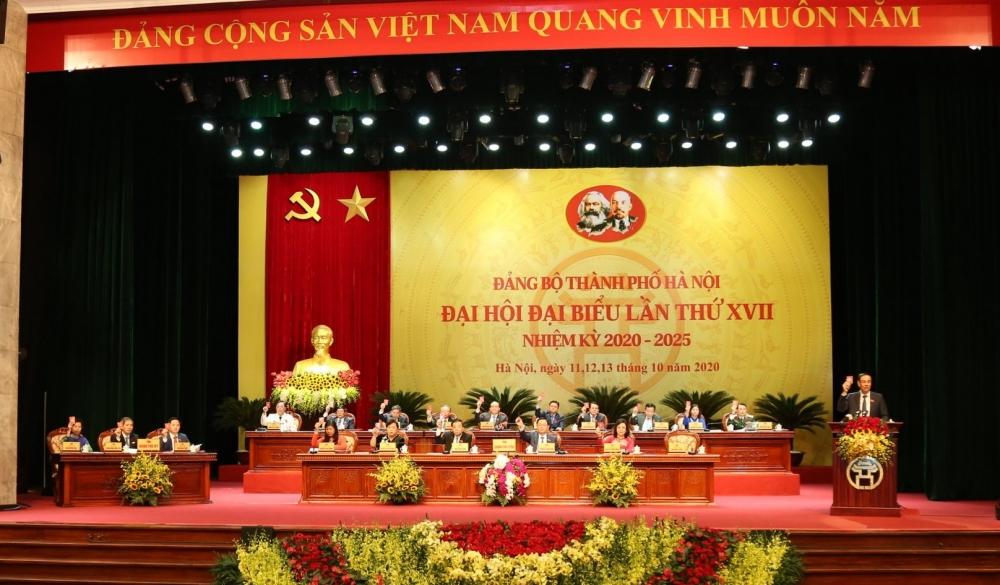 Đại hội đại biểu lần thứ XVII Đảng bộ thành phố Hà Nội bầu 16 đồng chí vào Đoàn Chủ tịch