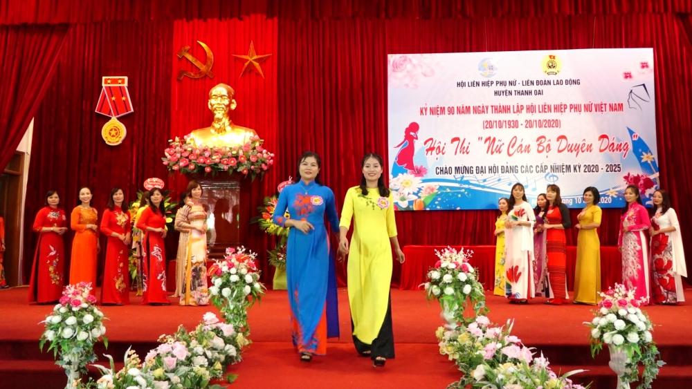 """Huyện Thanh Oai tổ chức hội thi """"Nữ cán bộ duyên dáng"""" năm 2020"""