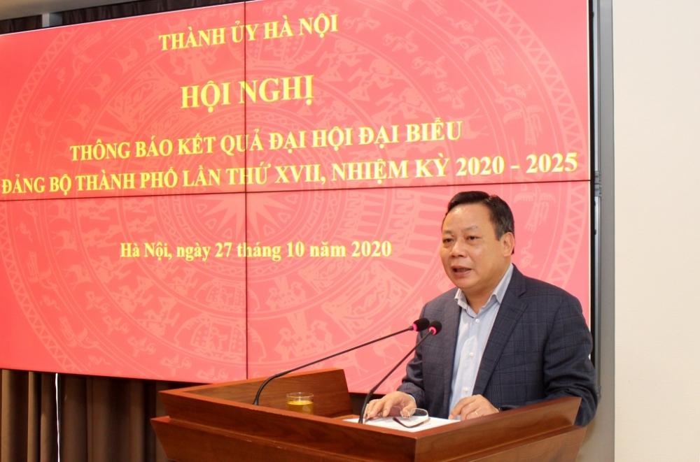 Hơn 80% đồng chí trúng cử Ban Chấp hành Đảng bộ Hà Nội khóa XVII đạt số phiếu trên 90%