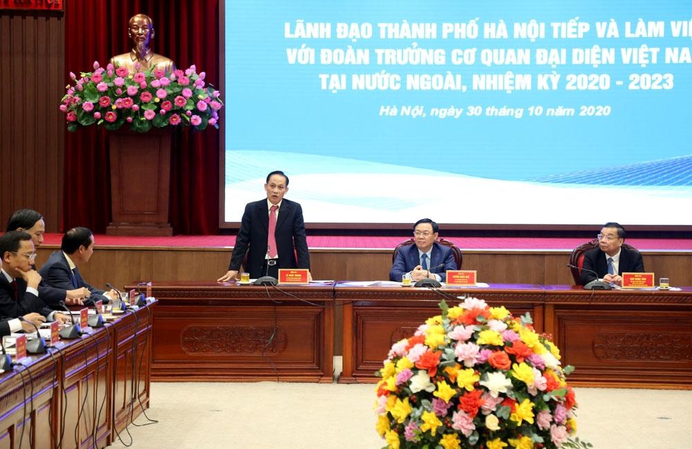 Thứ trưởng Bộ Ngoại giao Lê Hoài Trung phát biểu